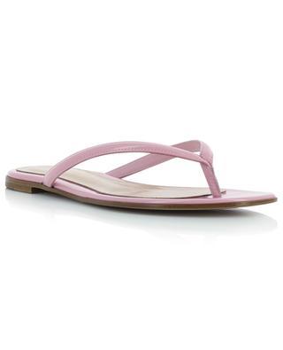 Flache Sandalen aus Lackleder Calypso GIANVITO ROSSI
