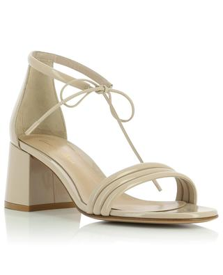 Sydney 60 block heel sandals in patent leather GIANVITO ROSSI
