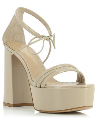 Sidney 80 heeled platform sandals in patent leather GIANVITO ROSSI