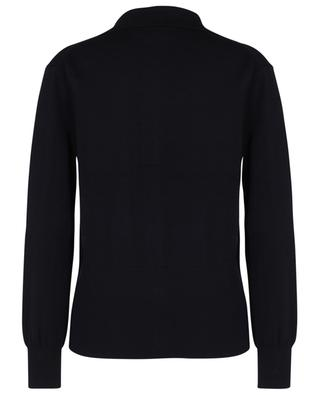 Cardigan fin en laine à boutonnière double et col chemise VICTORIA VICTORIA BECKHAM