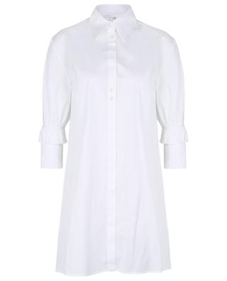 Minirobe chemise à manches trois-quarts à volants VICTORIA VICTORIA BECKHAM