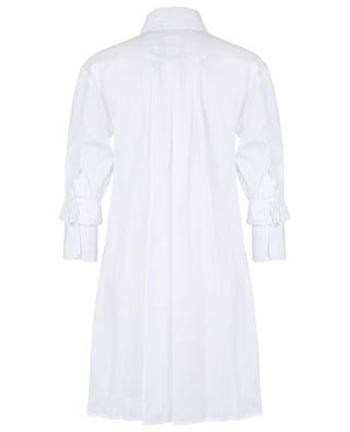 Mini shirt dress with ruffle embellished three-quarter sleeves VICTORIA VICTORIA BECKHAM