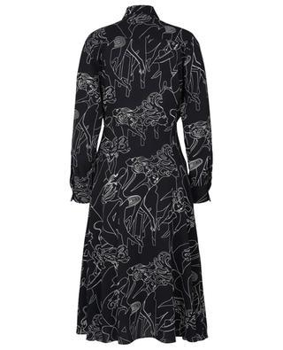 Robe chemise midi en crêpe imprimée Cabaret VICTORIA VICTORIA BECKHAM