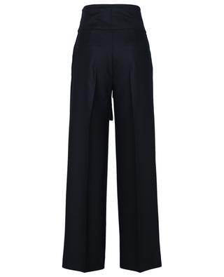Pantalon évasé en sergé de laine Tie Waist VICTORIA VICTORIA BECKHAM