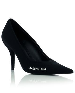 Brand-print textile high heels BALENCIAGA