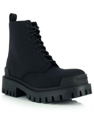 Strike textile and leather lace-up ankle boots BALENCIAGA