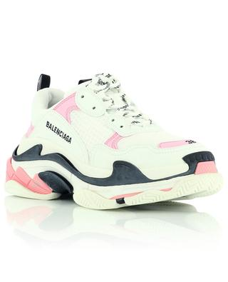 Triple S Leather Free low-top multi-material lace-up sneakers BALENCIAGA