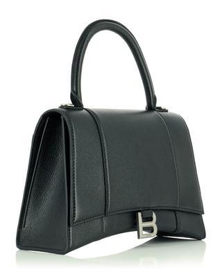 Handtasche aus genarbtem Leder Hourglass Top Handle BALENCIAGA