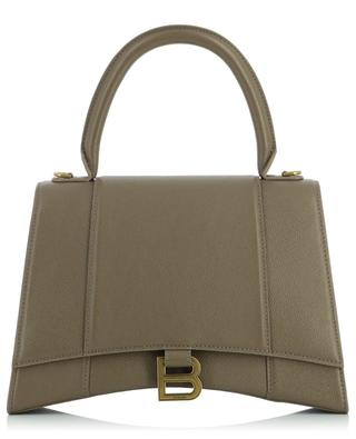 Sac à main en cuir grainé Hourglass Top Handle BALENCIAGA