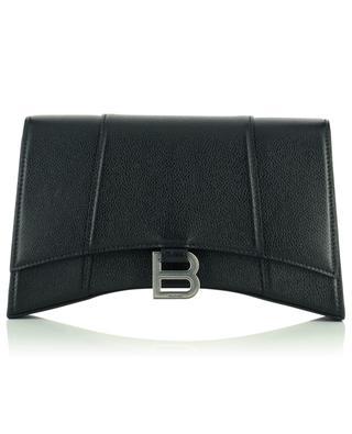 Hourglass Sling grained leather shoulder bag BALENCIAGA
