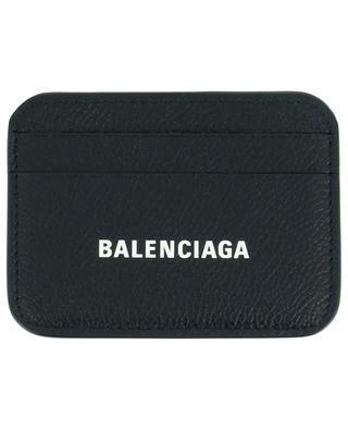 Cash grained leather logo print card holder BALENCIAGA