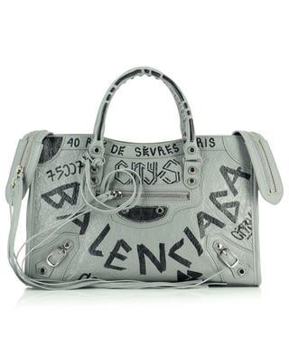 Handtasche aus Leder mit Beschriftungen BALENCIAGA