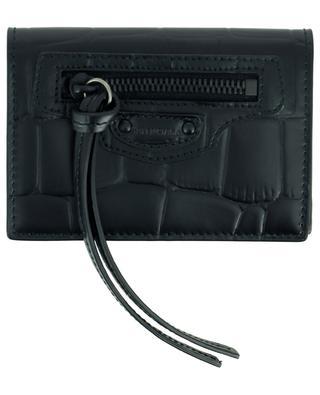 Mini-portefeuille en cuir effect croco Neo Classic City BALENCIAGA