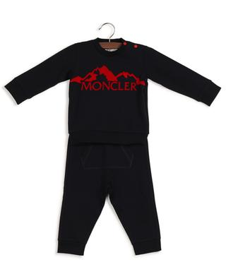 Mountain and logo printed baby tracksuit MONCLER