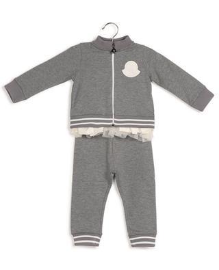 Baby-Jogginganzug mit Rüschen und Samtlogo MONCLER