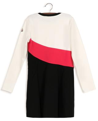 Tricolour skater dress in jersey with star patch MONCLER