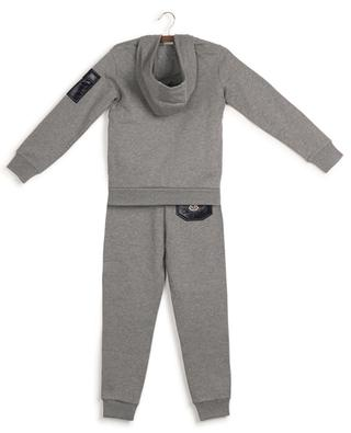 Felted cotton tracksuit with logo and nylon pockets MONCLER