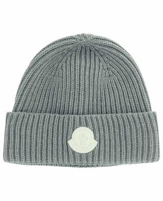 Bonnet en laine vierge avec logo MONCLER