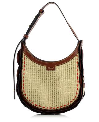 Darryl Small leather and raffia shoulder bag CHLOE