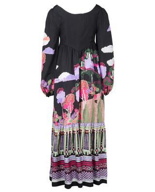 Robe trapèze longue en soie Bianca Frida Bow LIBERTY LONDON