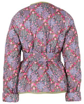 Veste matelassée imprimée fleurs avec ceinture Patti Eliza LIBERTY LONDON