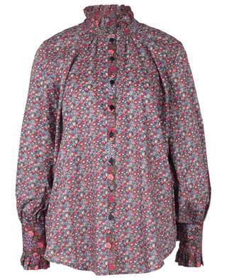 Iowa Prairie Patti Tana Lawn loose floral shirt with ruffles LIBERTY LONDON