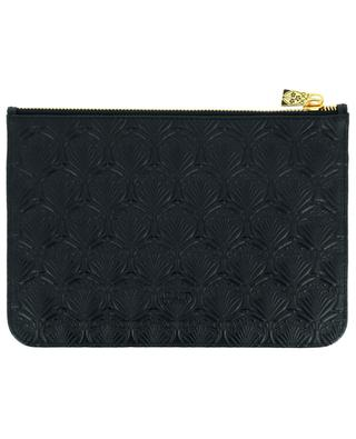 Iphis Medium embosseder leather pouch LIBERTY LONDON