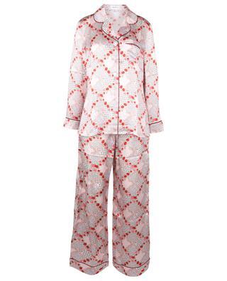 Pyjama aus geblümter Seidencharmeuse Connie LIBERTY LONDON