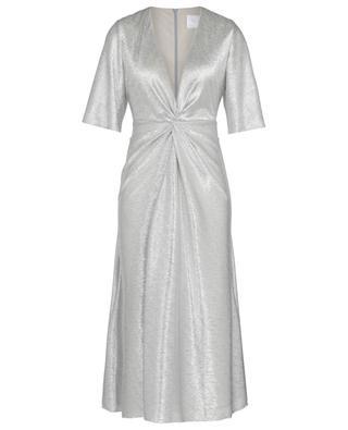 Stella knotted dress with lurex details GALVAN LONDON