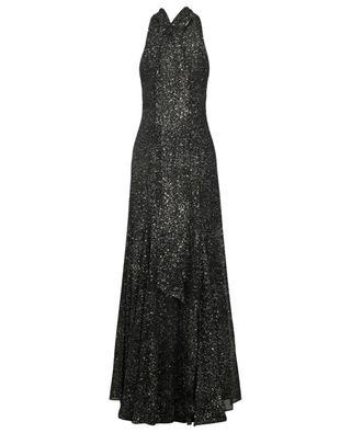 Cosmos long glitter neckholder dress GALVAN LONDON