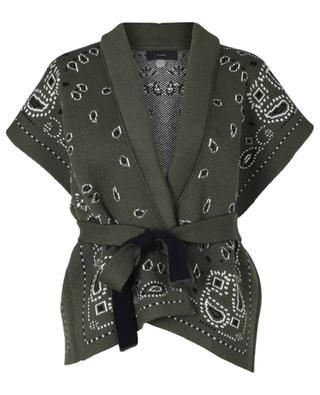 Paisley print cashmere cardigan with belt ALANUI
