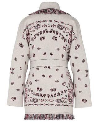 Bandana cashmere knit cardigan with belt ALANUI