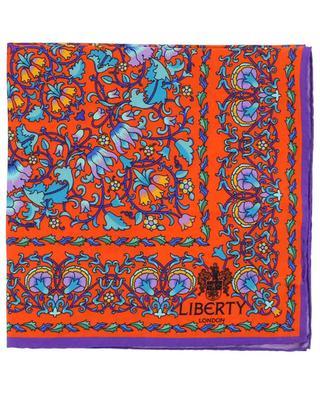 Lodden printed silk square LIBERTY LONDON