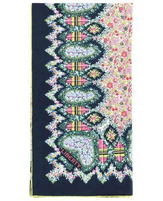 Foulard carré en soie fleurie Marietta LIBERTY LONDON