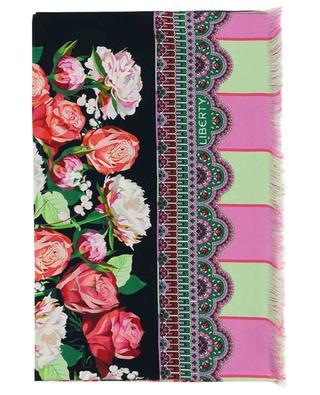 Floral Storm printed silk scarf LIBERTY LONDON