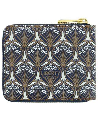 Iphis small canvas and leather zippered wallet LIBERTY LONDON