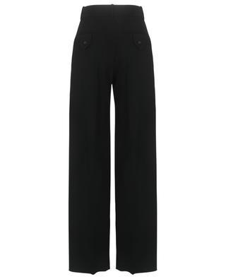Pantalon large à pinces en laine vierge VALENTINO