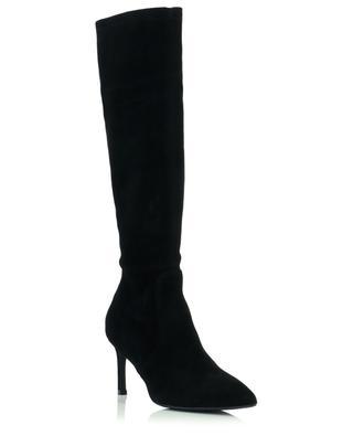 Wanessa 75 stiletto heel stretch suede boots STUART WEITZMAN