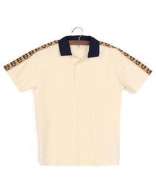 Polo en coton piqué orné d'un ruban jacquard Interlocking G Stripe GUCCI