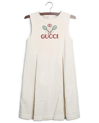 A-Linien-Kleid mit Gucci-Tennis-Stickerei GUCCI