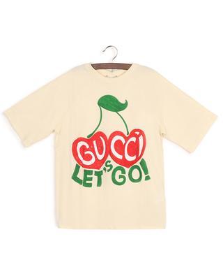 Let's Go cherry printed raglan sleeve T-shirt GUCCI