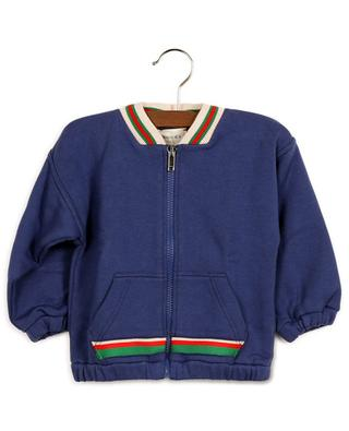 Sweat-shirt zippé bébé embelli Web GUCCI