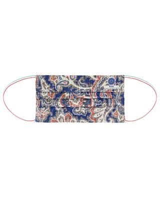 Masque type chirurgical en coton imprimé paisley ROSI COLLECTION