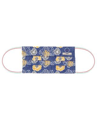 Hibiscus print surgical type face mask in cotton ROSI COLLECTION