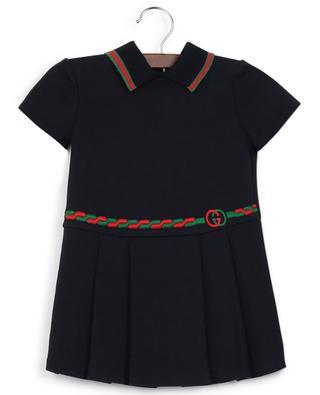 Cotton dress with Web ribbon GUCCI