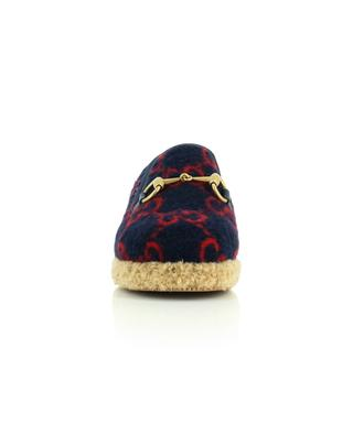 Mokassins aus Wolle mit Trensen-Detail GUCCI