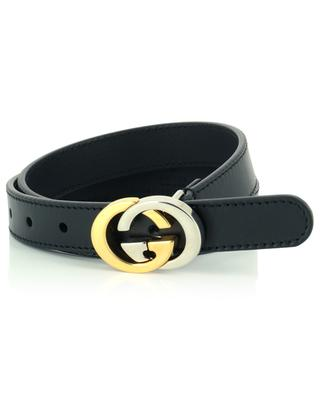 Leather belt with GG buckle GUCCI