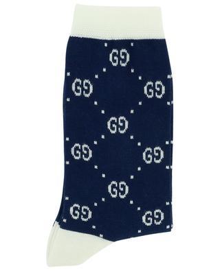 Chaussettes en coton mélangé imprimé logo GUCCI