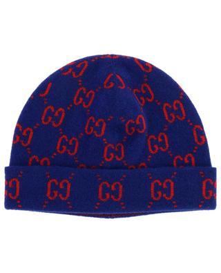 Bonnet en laine avec imprimé logo GUCCI