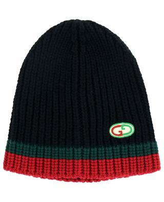 GG-embroidery wool beanie GUCCI
